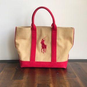 Ralph Lauren Polo Hemp Canvas Tote Bag